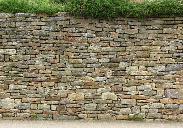 kamenný plot, zeleň