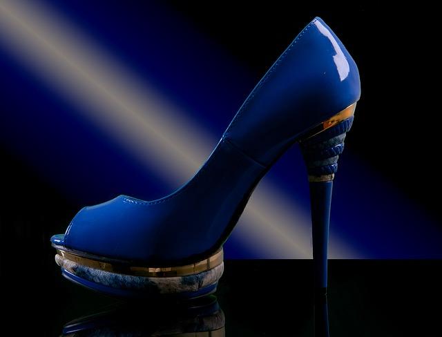 modré boty