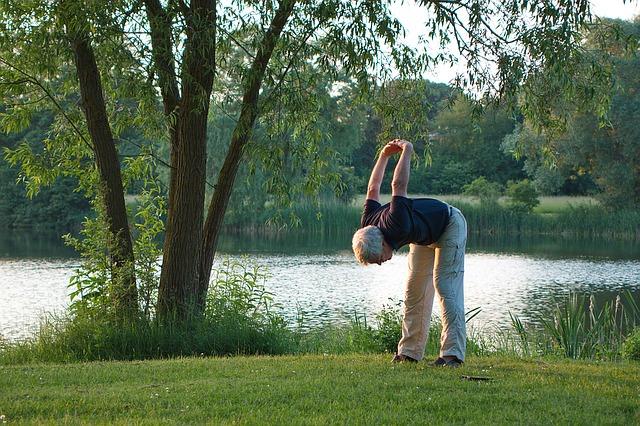 cvičení seniora