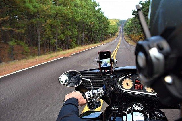 řízení motorky